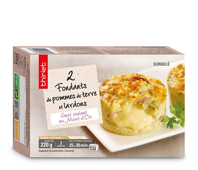 2 fondants de pommes de terre, lardons, Mont d'Or