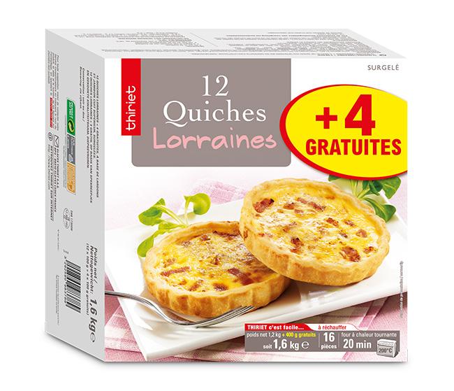 12 Quiches lorraines + 4 gratuites