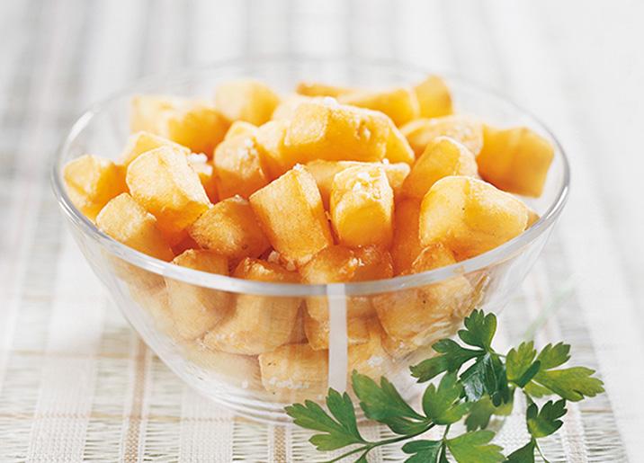 Pommes rissolées 'coupe large'