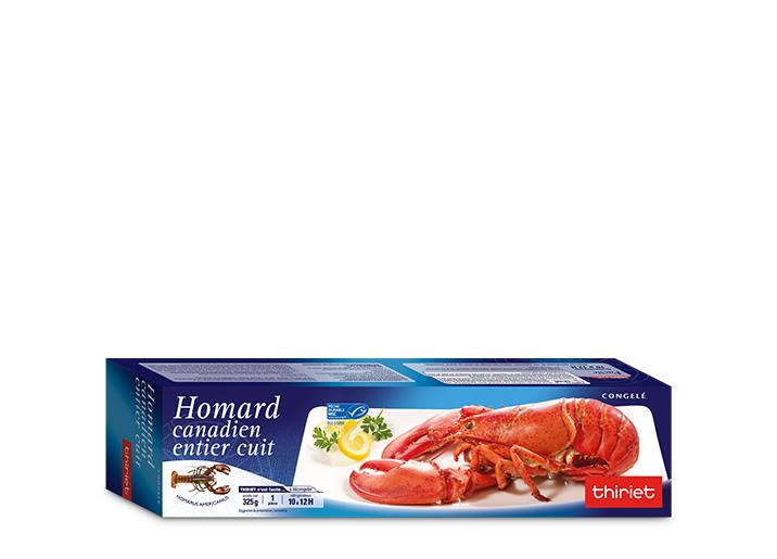 Homard canadien entier cuit