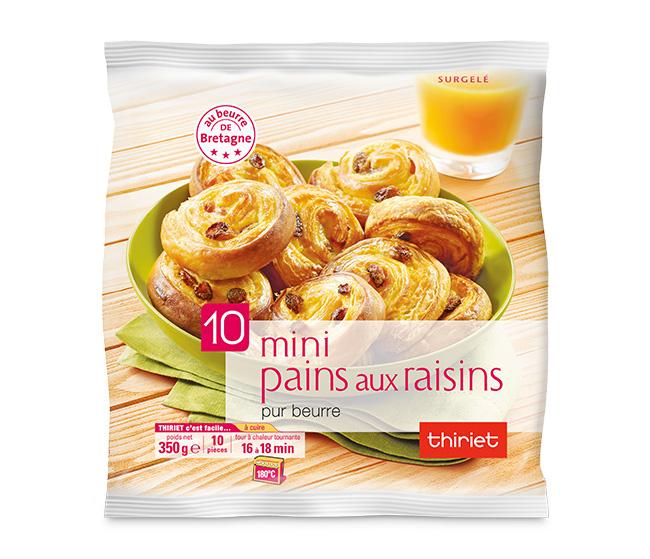 10 Mini pains aux raisins pur beurre de Bretagne