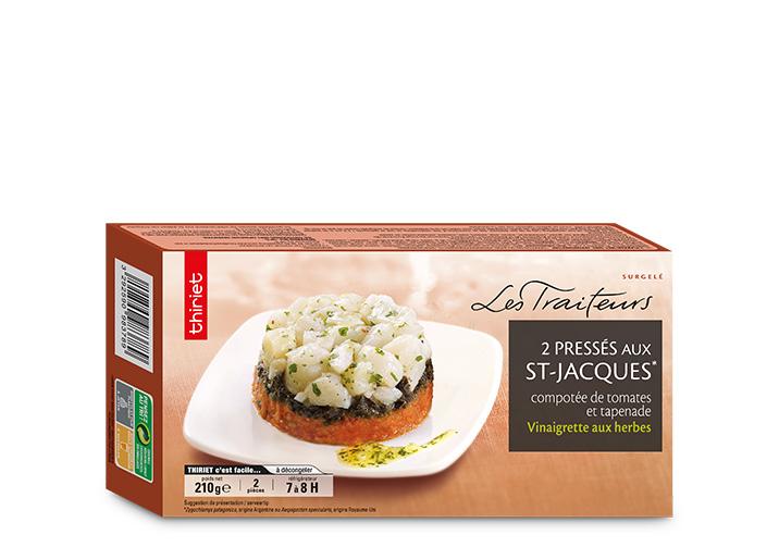 2 Pressés de St-Jacques*, compotée de tomate