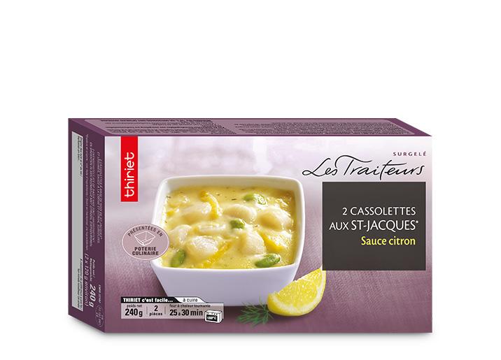 2 Cassolettes de St-Jacques sauce citron