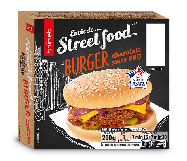 Burger charolais sauce BBQ