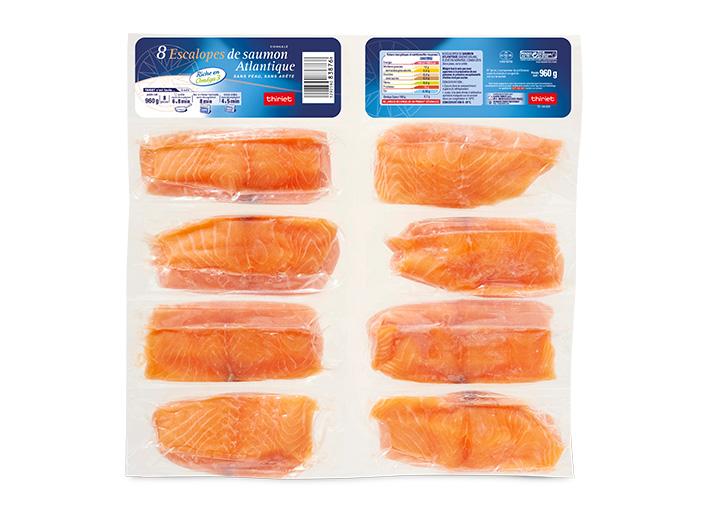 8 Escalopes de saumon Atlantique