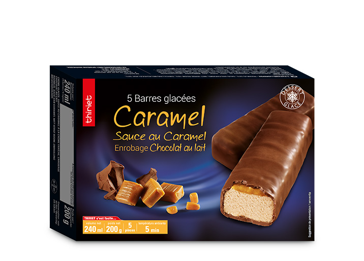 5 Barres glacées caramel