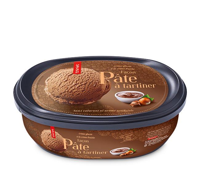 Crème glacée Façon pâte à tartiner