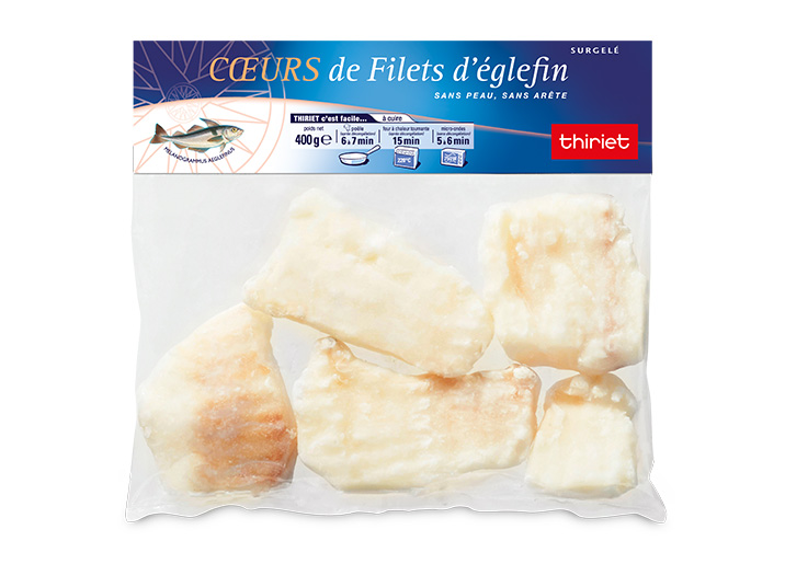 Coeurs de filets d'églefin