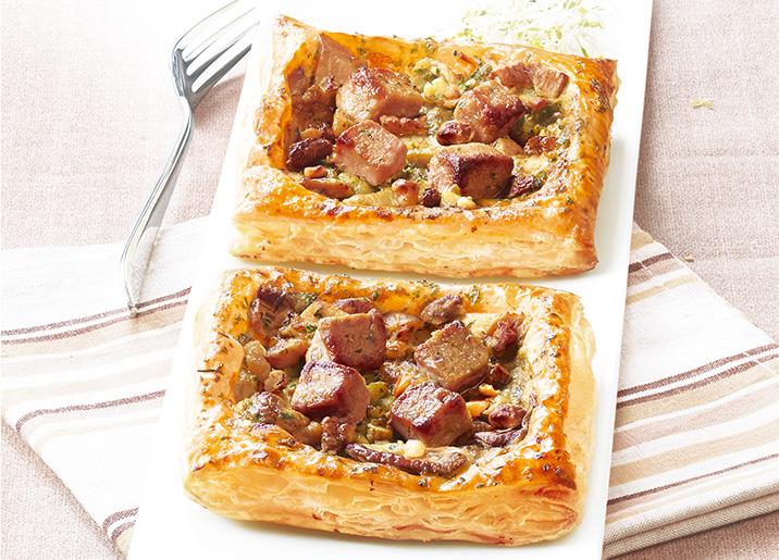 2 tartes fines c pes bloc de foie gras de canard surgel gamme entr es snacking tartes sur. Black Bedroom Furniture Sets. Home Design Ideas