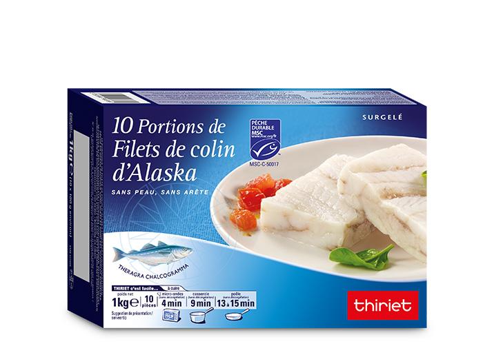 10 Portions de filets de colin d'Alaska