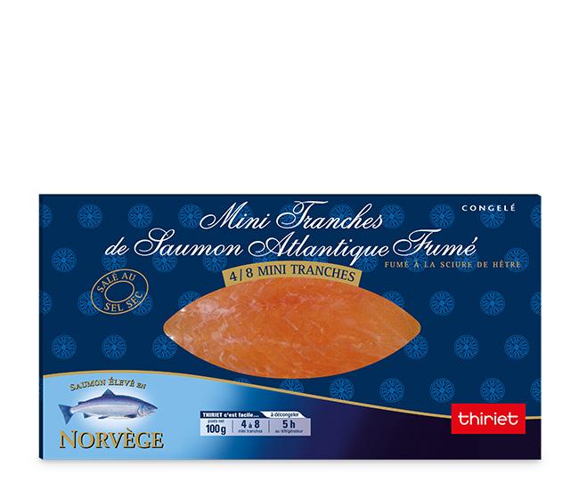 Mini tranches de saumon Atlantique fumé