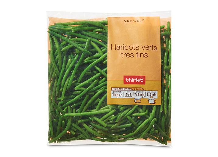 Haricots verts tr s fins surgel gamme pommes de terre l gumes fruits sur thiriet - Haricot vert fruit ou legume ...