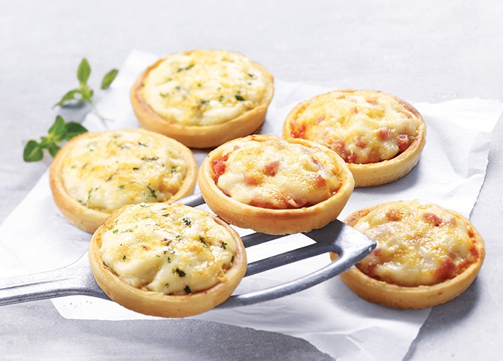 9 Petites pizzas jambon/fromages