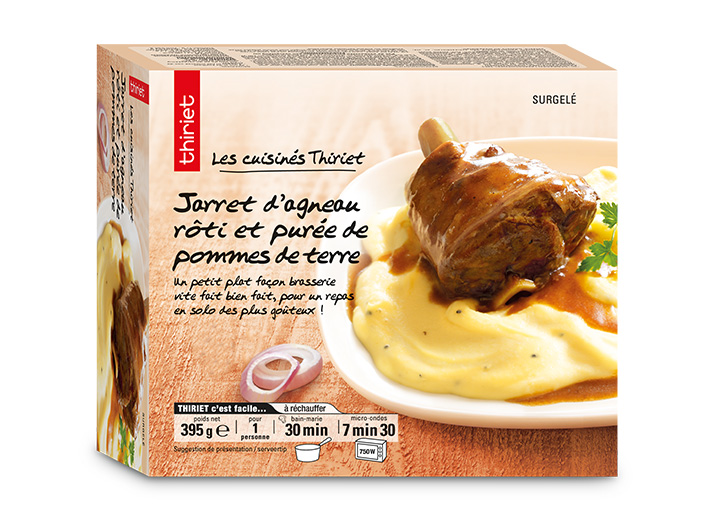Jarret d'agneau rôti et purée de pommes de terre