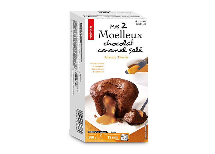 2 Moelleux au chocolat caramel salé