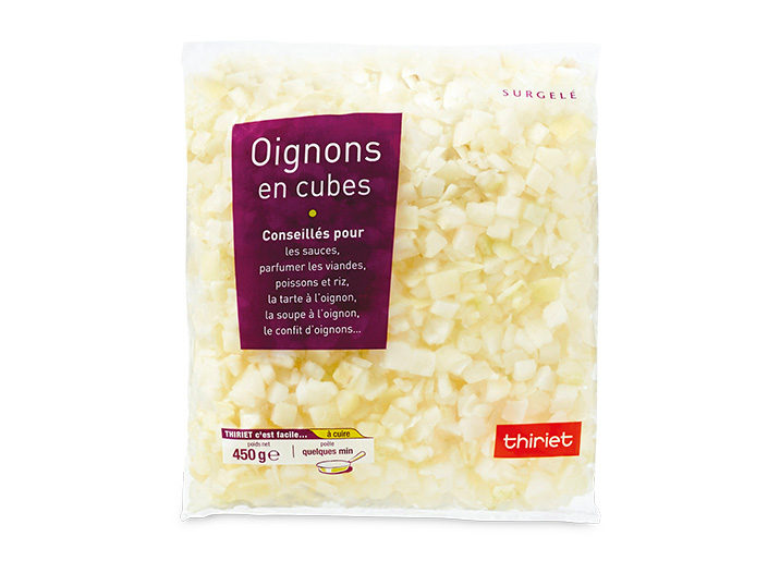 Oignons en cubes