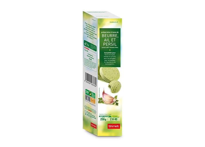 Préparation à base de beurre, ail et persil