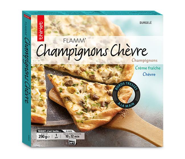 Flamm' champignons/chèvre