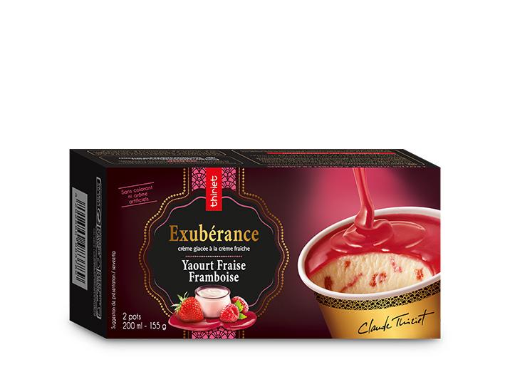 2 Pots Exubérance™ Yaourt Fraise Framboise
