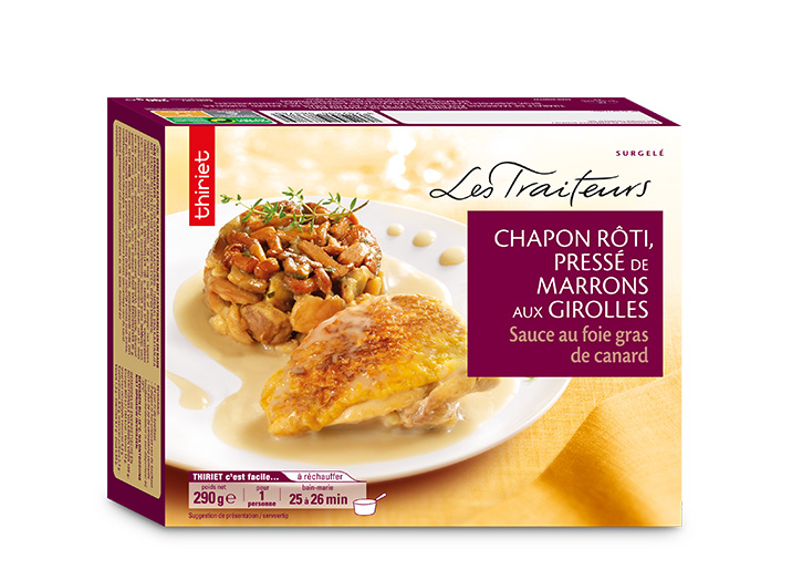 Chapon rôti sauce au foie gras de canard