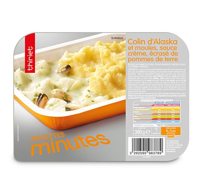 Colin d 39 alaska sauce bretonne surgel gamme s lection du - Cuisiner du colin surgele ...