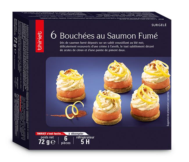6 Bouchées au saumon fumé