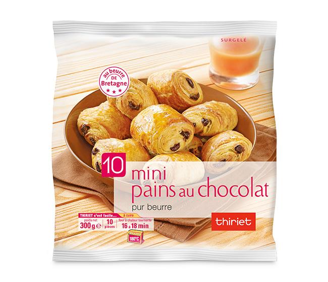 10 Mini pains au chocolat pur beurre de Bretagne