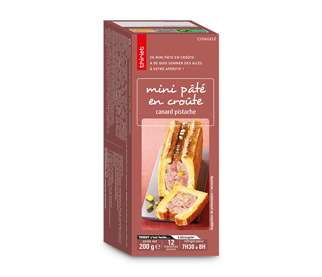 Mini pâté en croûte canard/pistache