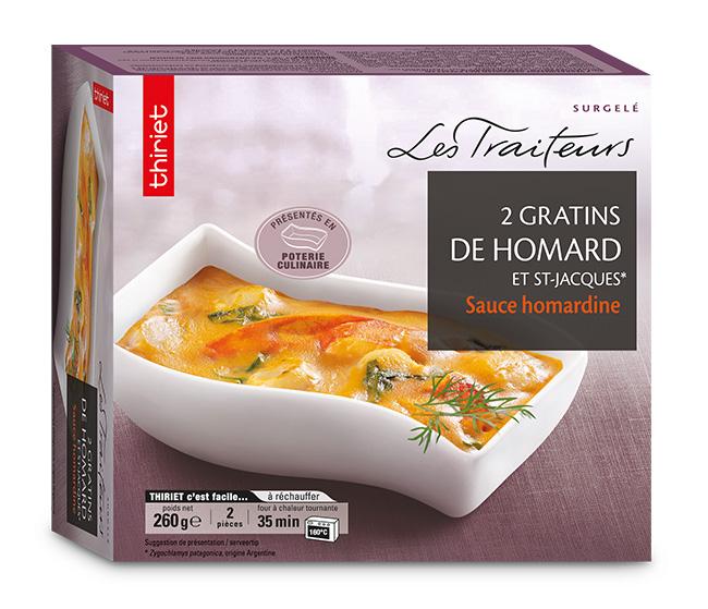 2 Gratins de homard et St-Jacques* sauce homardine