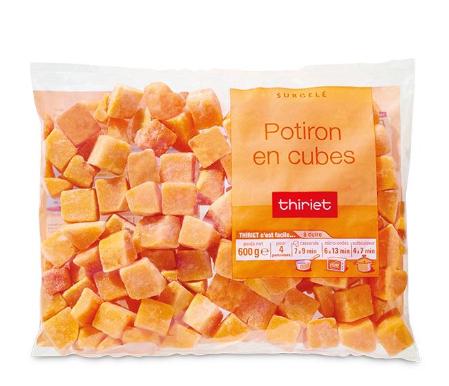 Potirons en cubes : le 2ème sachet à - 70%