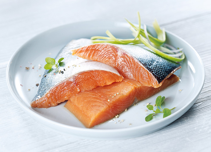 4 pav s de saumon argent du pacifique surgel gamme - Cuisiner saumon surgele ...