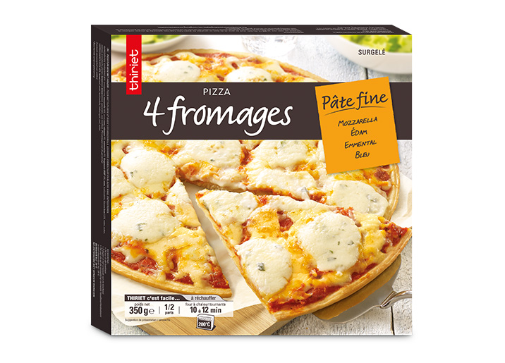 pizza p te fine 4 fromages surgel gamme s lection du mois sur thiriet. Black Bedroom Furniture Sets. Home Design Ideas