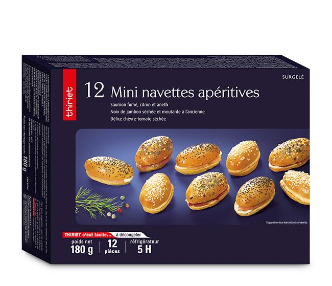 12 mini navettes apéritives