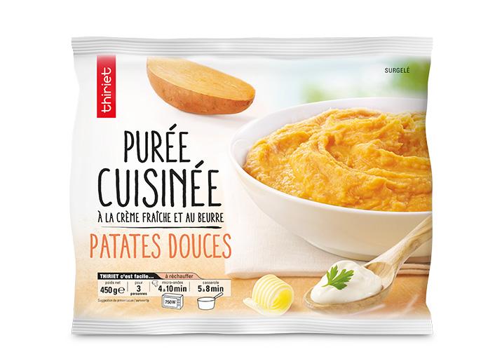 Purée de patate douce cuisinée