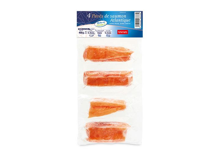 4 Pavés de saumon Atlantique sans peau