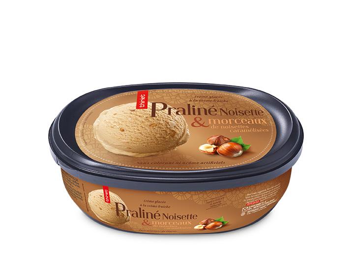 Crème glacée Praliné Noisette
