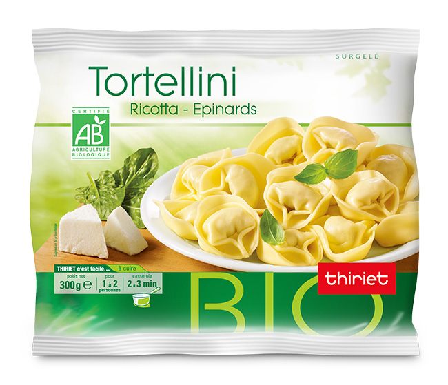 Tortellini ricotta/épinards biologiques