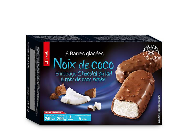 8 Barres glacées noix de coco