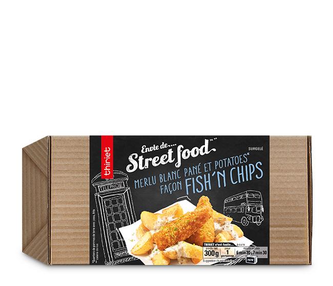 Merlu blanc pané et potatoes façon fish'n chips