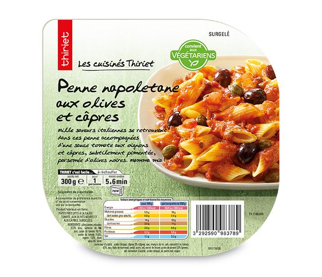Penne napoletane aux olives et câpres