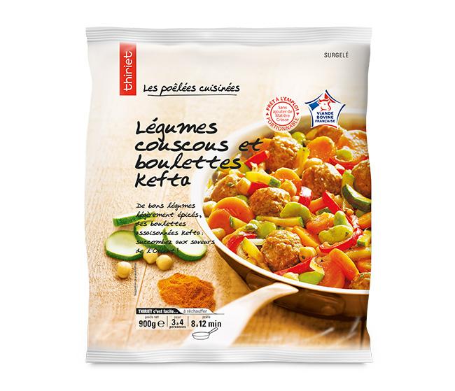 Légumes couscous et boulettes kefta