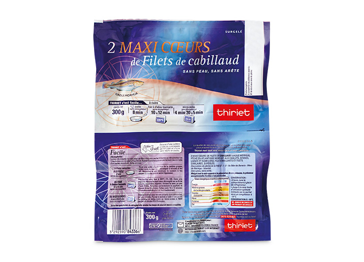 2 Maxi coeurs de filets de cabillaud