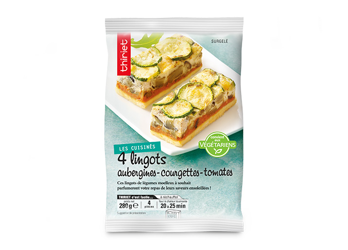 4 Lingots aubergines/courgettes/tomates