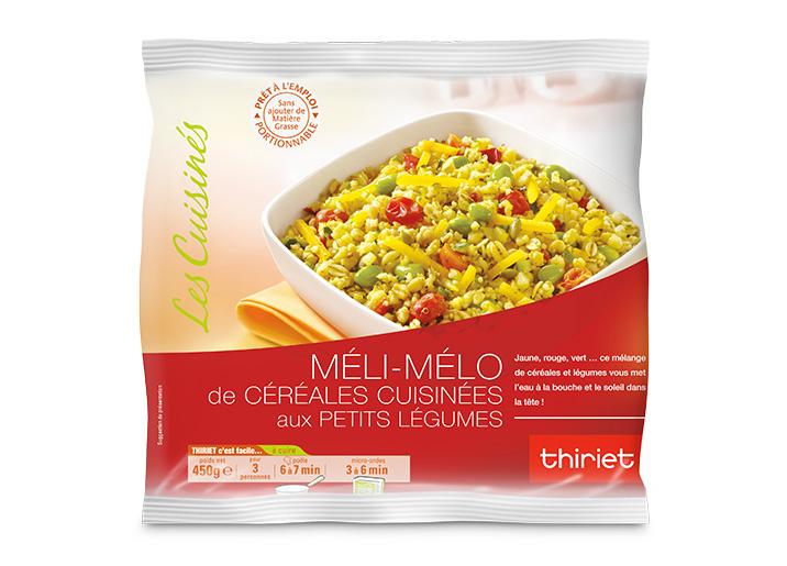 Méli-mélo de céréales cuisinées aux petits légumes