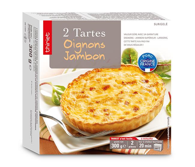2 Tartes oignons/jambon