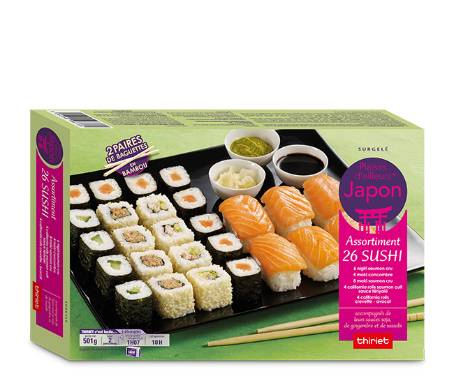Assortiment de 26 sushi
