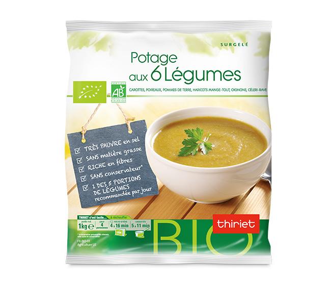 Potage aux 6 légumes biologiques