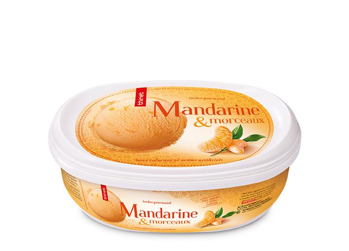 Sorbet Mandarine et morceaux de mandarine