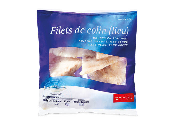 Filets de colin (lieu)
