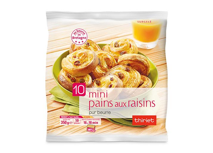 10 Mini pains aux raisins pur beurre